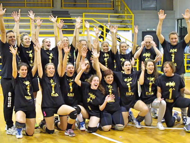 Squadra vincitrice del Campionato di seconda divisione  FIPAV
