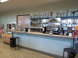 Un dettaglio del bar del Palazzetto dello Sport e Bocciodromo di Carpaneto Piacentino
