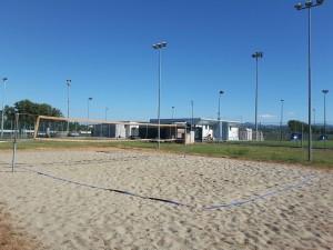 Un dettaglio del campo da beach volley del Palazzetto dello Sport e Bocciodromo di Carpaneto Piacentino