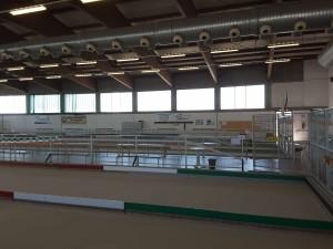 Un dettaglio del bocciodromo del Palazzetto dello Sport e Bocciodromo di Carpaneto Piacentino