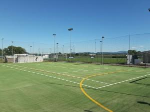 Un dettaglio del Campo da Calcio a 5 del Palazzetto dello Sport e Bocciodromo di Carpaneto Piacentino