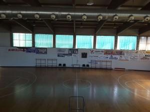 Un dettaglio della palestra del Palazzetto dello Sport e Bocciodromo di Carpaneto Piacentino